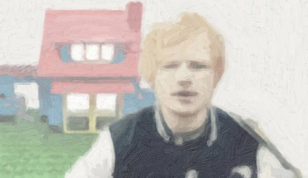 Ed Sheeran Print featuring the painting Lego House by Tilly Williams