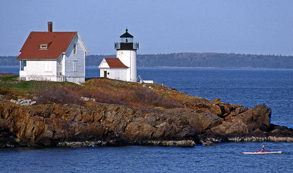 Me Print featuring the photograph Curtis Island Lighthouse by Skip Willits