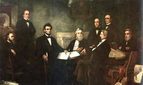 First Reading Of The Emancipation Proclamation Of President Lincoln Print featuring the digital art First Reading Of The Emancipation Proclamation Of President Lincoln by Georgia Fowler