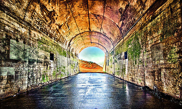 Hawk Hill Print featuring the photograph Hawk Hill Tunnel by Robert Rus