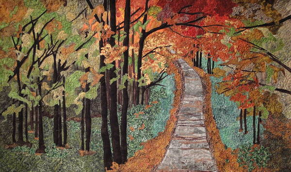 Autumn Leaves Print featuring the painting Radiant Beauty by Anita Jacques