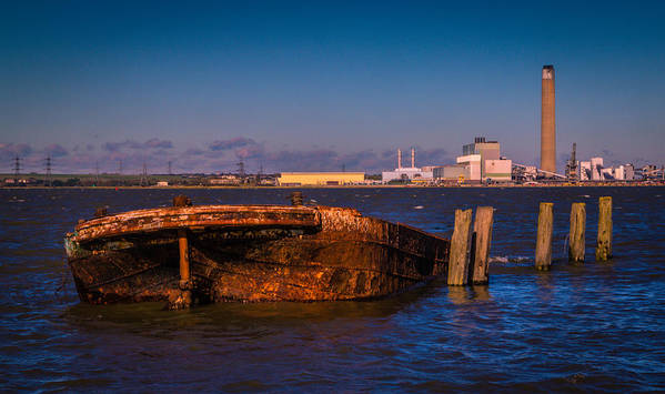 Chatham Print featuring the photograph Riverside Wreck by Dawn OConnor