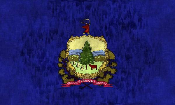 America Print featuring the digital art Vermont Flag by World Art Prints And Designs