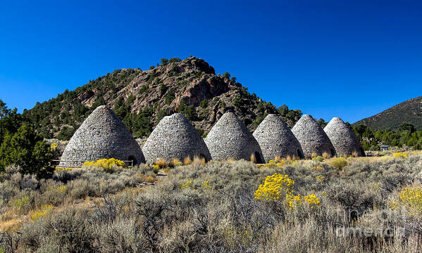 Ward Charcoal Ovens State Historic Park Print featuring the photograph Wards Charcoal Ovens by Robert Bales