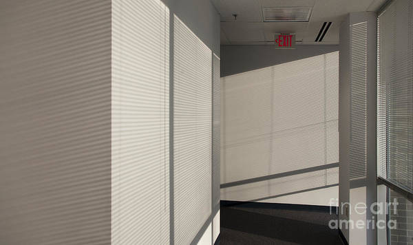 Airy Print featuring the photograph Hallway Of An Office Building by Will & Deni McIntyre