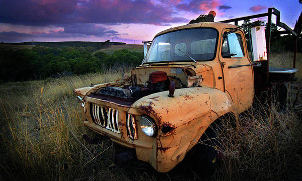 Truck Print featuring the photograph Abandoned by Tim Nichols