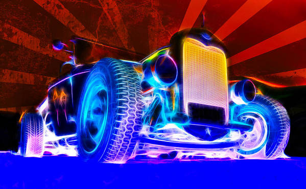 Hot Rod Print featuring the photograph Acid Ford Hot Rod by Phil 'motography' Clark