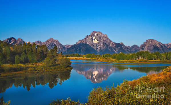 Grand Teton Print featuring the photograph Oxbow Bend II by Robert Bales
