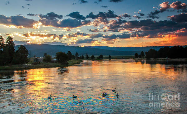 Cascade Print featuring the photograph Sunrise On The North Payette River by Robert Bales