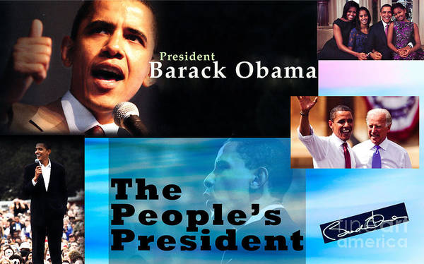 President Print featuring the photograph The People's President Still by Terry Wallace