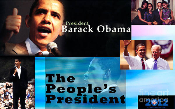 President Print featuring the photograph The People's President by Terry Wallace