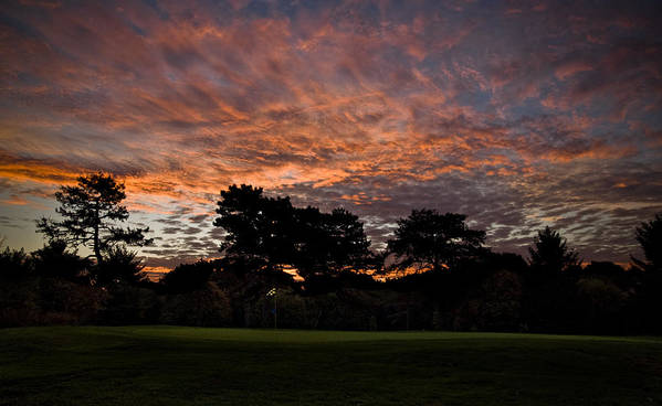 Golf Print featuring the photograph 16 Green Dawn by Edwin Voorhees
