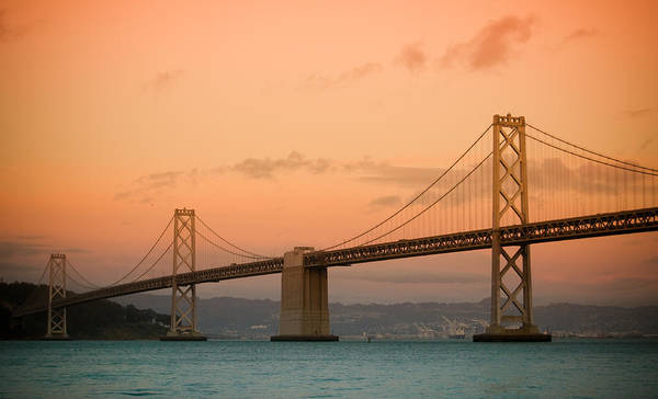 Bay Bridge Print featuring the photograph Bay Bridge by Mandy Wiltse