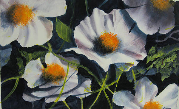 Floral Print featuring the painting More Poppies by Robert Carver