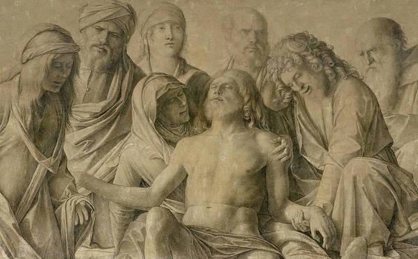 Pieta Print featuring the painting Pieta by Giovanni Bellini