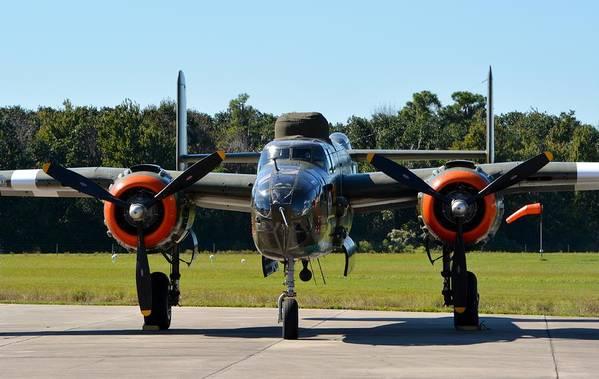 North American B-25j Mitchell Print featuring the photograph Apache Princess by Matt Abrams