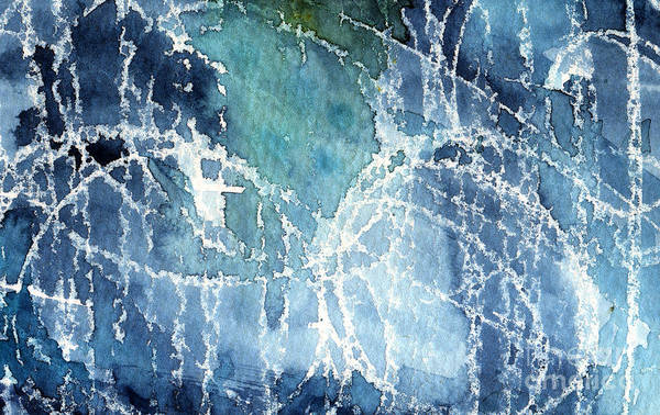 Abstract Painting Print featuring the painting Sea Spray by Linda Woods