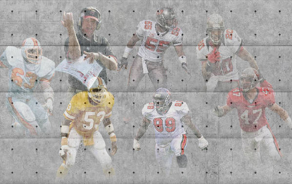 Buccaneers Print featuring the photograph Tampa Bay Buccaneers Legends by Joe Hamilton