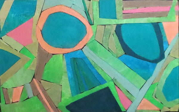 Abstract Print featuring the mixed media Variation by Diane Fine