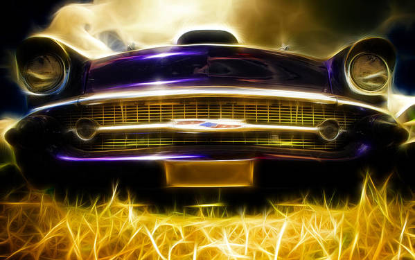 Chevrolet Print featuring the photograph 1957 Chevrolet Bel Air by Phil 'motography' Clark