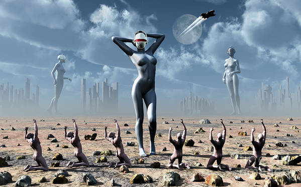 Religion Print featuring the digital art Artists Concept Of Mankinds Reliance by Mark Stevenson