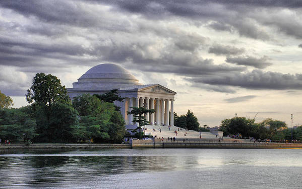 Thomas Print featuring the photograph Thomas Jefferson Memorial by Gene Sizemore