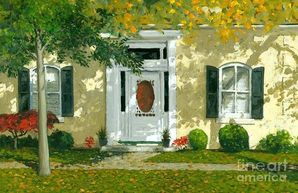Autumn Print featuring the painting Autumn Sunlight by Michael Swanson