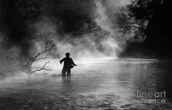 Fishing Print featuring the photograph Fly Fishing by Iris Greenwell