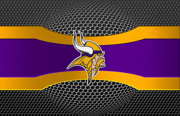 Vikings Print featuring the photograph Minnesota Vikings by Joe Hamilton