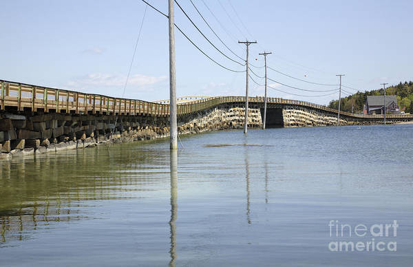 Landscape Print featuring the photograph Bailey Island Bridge - Harpswell Maine Usa by Erin Paul Donovan