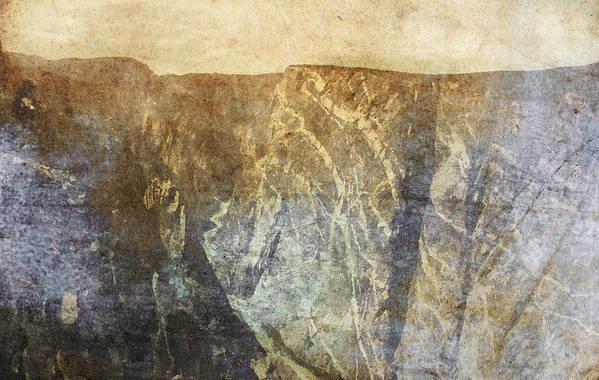 Brett Print featuring the digital art Black Canyon by Brett Pfister