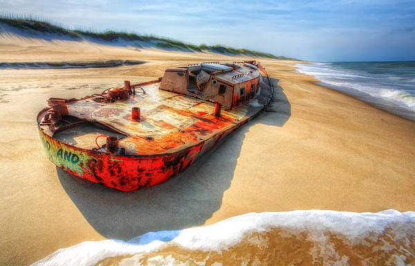North Carolina Print featuring the painting Blood And Guts II - Outer Banks by Dan Carmichael