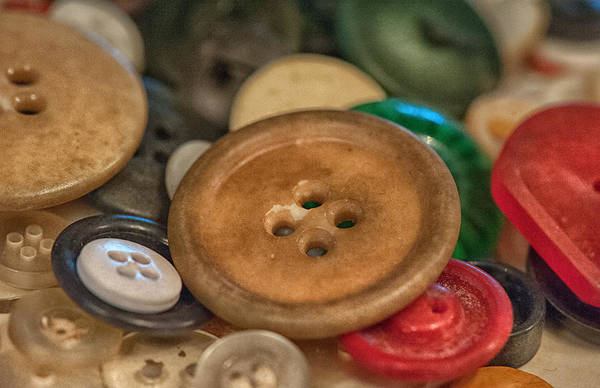 Button Print featuring the photograph Buttons by Brenda Bryant