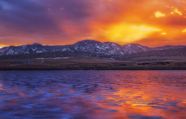 Sunset Print featuring the photograph Fire And Ice by Darren White