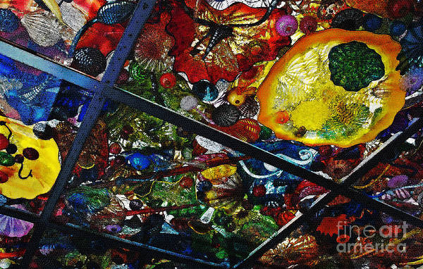 Glass Print featuring the photograph Glass Ceiling Abstract by Valerie Garner