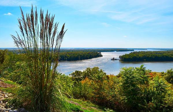 Mississippi River Scene Print featuring the photograph The Confluence by Julie Dant
