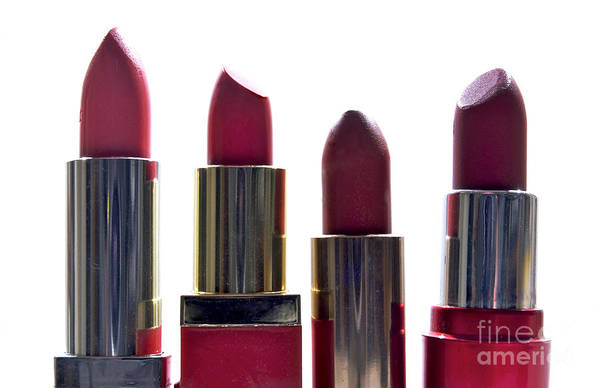Inside Print featuring the photograph Lipsticks by Bernard Jaubert