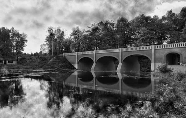 Bridge Print featuring the photograph Mirror Bridge by Peter Chilelli