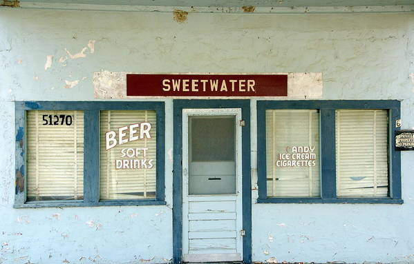 Beer Print featuring the photograph Sweetwater Store by Jeff Lowe