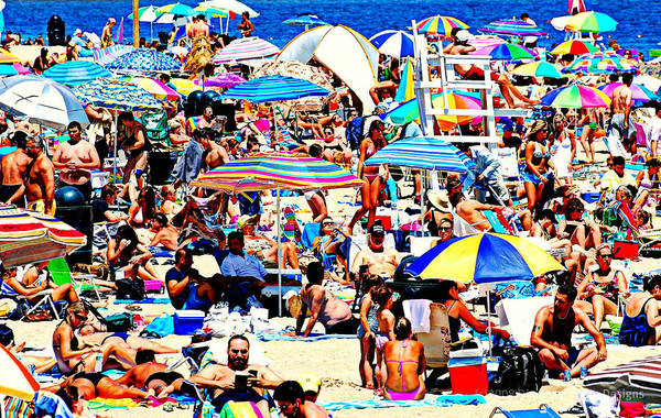 Beach Print featuring the photograph Beach Chaos by Diana Angstadt