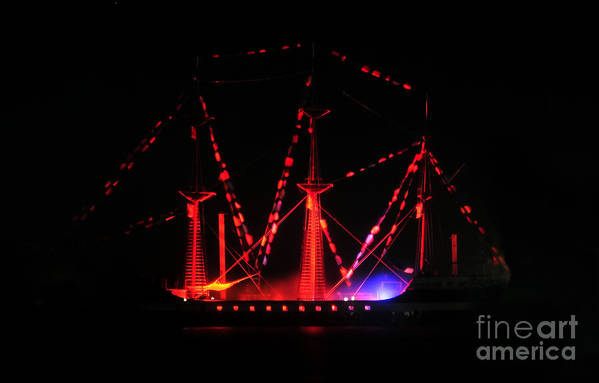 Ship Print featuring the photograph Ghosts Of Gasparilla by David Lee Thompson