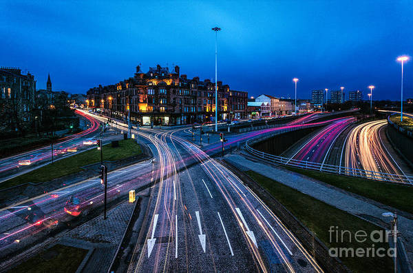 Cityscape Framed Prints Print featuring the photograph Charing Cross Glasgow by John Farnan