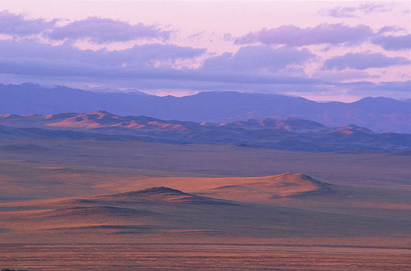 East Siberia; Eatern Siberia; Siberia; Land Forms; Landscape;mountainous;mountains;nature;nobody;outdoors;outside;wide Open Spaces Print featuring the photograph Tuva by Anonymous