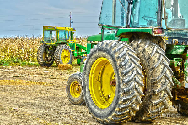 Tractor Print featuring the photograph Deere 2 by Baywest Imaging