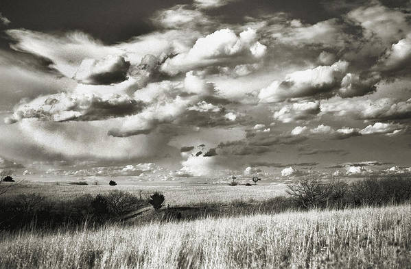 Flint Hills Prairie Print featuring the photograph Flint Hills Prairie by Thomas Bomstad