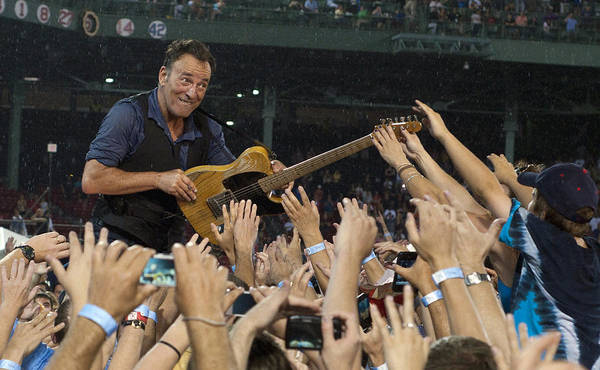 Bruce Springsteen Print featuring the photograph Frenzy At Fenway by Jeff Ross