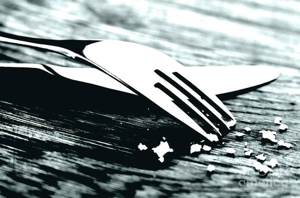 Fork Print featuring the photograph Knife And Fork by Blink Images