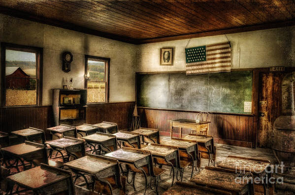 School Print featuring the photograph One Room School by Lois Bryan