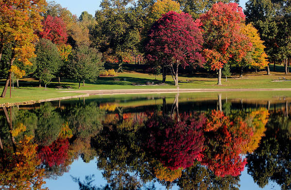 Reflection Print featuring the photograph Perfect Day by Rob Blair