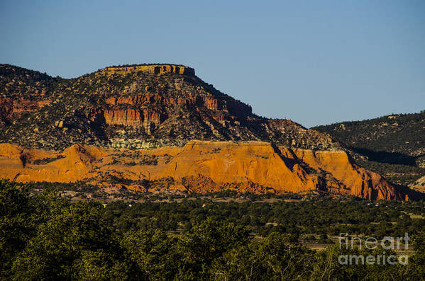 New Mexico Print featuring the photograph Red And Green Plateau New Mexico by Deborah Smolinske